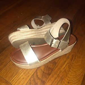 Metallic Gold espadrille sandals